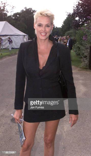 Brigitte Nielsen during The 2000 Cartier Polo Finals at Guards Polo Club in Windsor Great Britain
