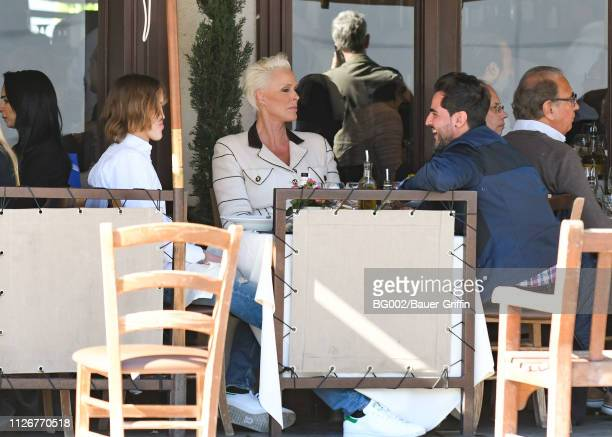 Brigitte Nielsen her son Raoul Meyer Jr and her husband Mattia Dessi are seen on February 22 2019 in Los Angeles California