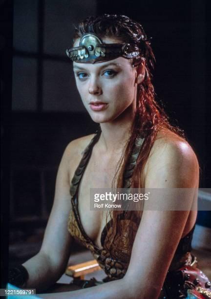 """Brigitte Nielsen in """"Red Sonja"""", directed by Richard Fleischer, Rome, Italy, 1984"""