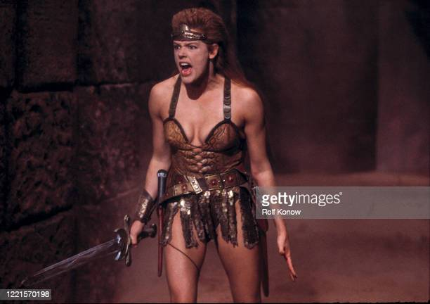 Brigitte Nielsen in Red Sonja directed by Richard Fleischer Rome Italy 1984