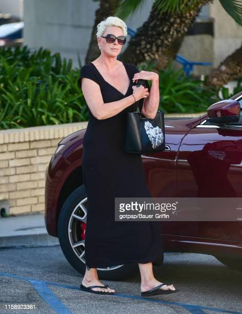 Brigitte Nielsen is seen on July 31, 2019 in Los Angeles, California.