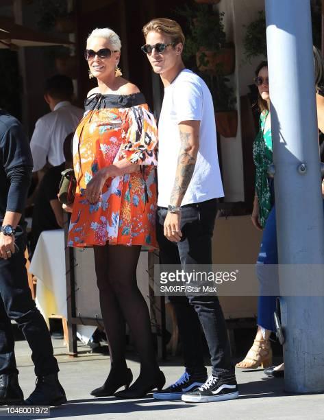 Brigitte Nielsen is seen on October 4, 2018 in Los Angeles, CA.