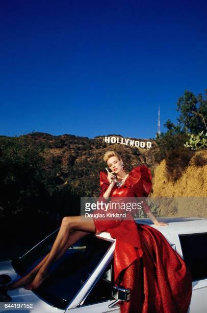 Brigitte Nielsen Modeling JeanClaude Jitrois Leather Dress