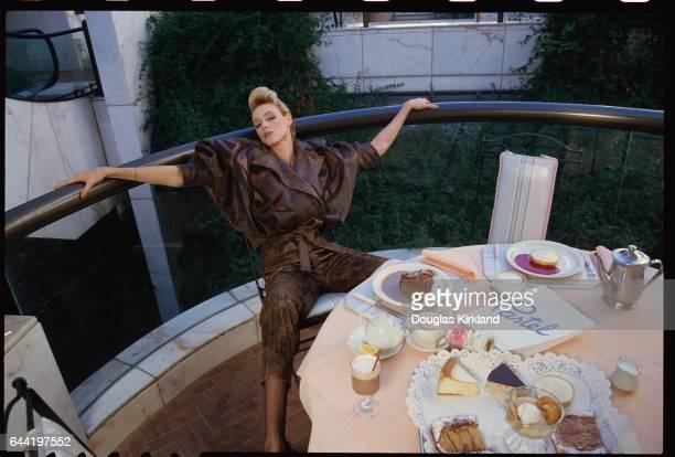 Brigitte Nielsen Modeling JeanClaude Jitrois Leather Jacket