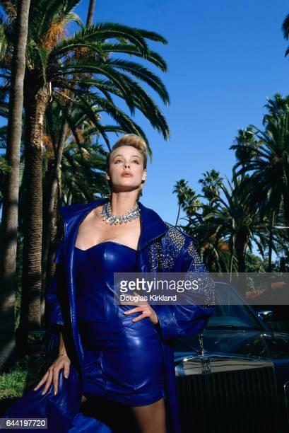 Brigitte Nielsen Modeling Jean-Claude Jitrois Leather Outfit