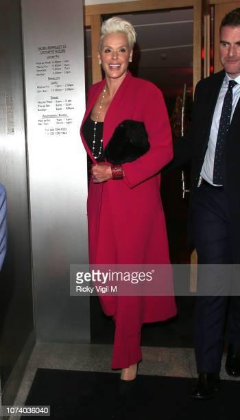 Brigitte Nielsen seen on a night out at Nobu Berkeley after Creed II UK film premiere on November 28, 2018 in London, England.