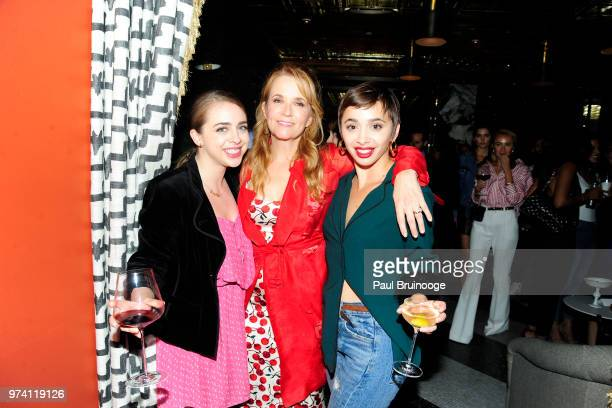 Brigitte Pfaeffle Lea Thompson and Emma Caymares attend MarVista Entertainment And Parkside Pictures With The Cinema Society Host The After Party For...