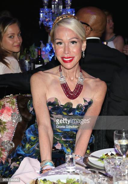 Brigitte Reid during the amfAR Gala Cannes 2018 dinner at Hotel du CapEdenRoc on May 17 2018 in Cap d'Antibes France
