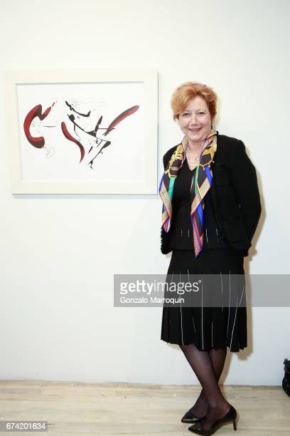 Brigitte Schaller attends the Swiss Wine Valais Loves New York hosted by Gregory de la Haba Billy The Artist Anthony HadenGuest and Raul Zamudio at...