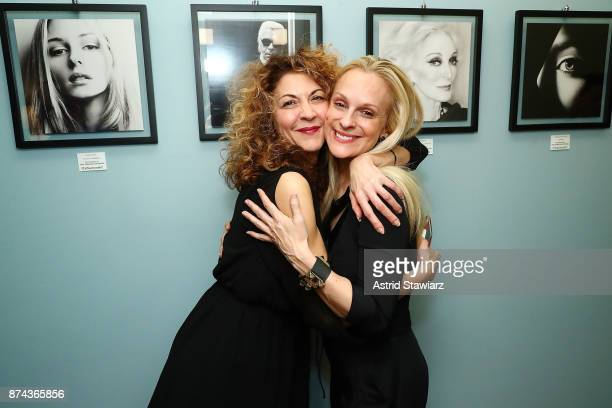 Brigitte Segura and Consuelo Vanderbilt Costin attend 'VITAL PORTRAITS' solo photography exhibition opening at Konstantin Gallery on November 14 2017...