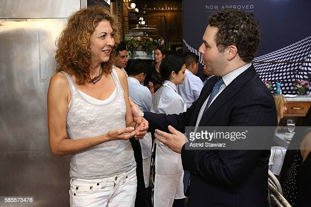 Brigitte Segura and Dr Joshua Zeichner attend the Psoriasis Awareness Month Event With Sernivo on August 3 2016 in New York City