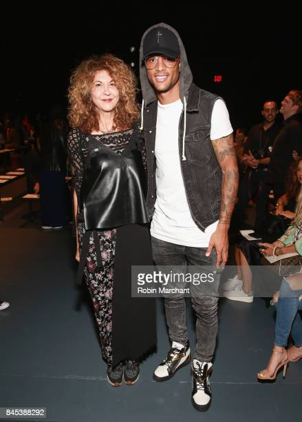 Brigitte Segura and Khiry Shelton attend Lisa N Hoang during New York Fashion Week at Pier 59 on September 10 2017 in New York City