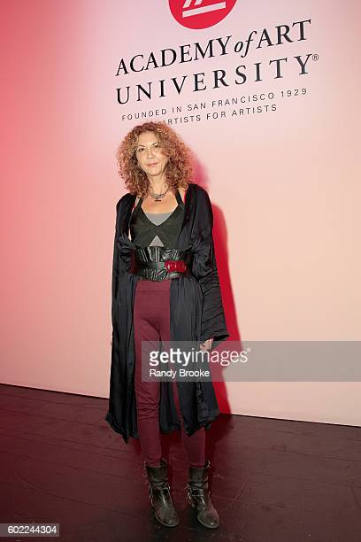 Brigitte Segura attends the Academy Of Art University Spring 2017 Collections fashion show during New York Fashion Week at The Arc Skylight at...