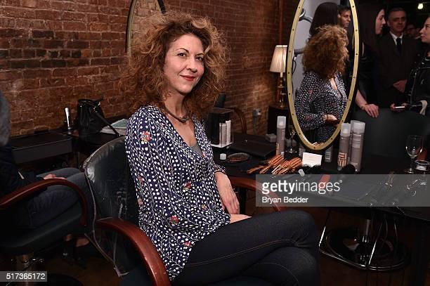 Brigitte Segura attends the ELLE Wella event at Salon MarieLou D on March 24 2016 in New York City