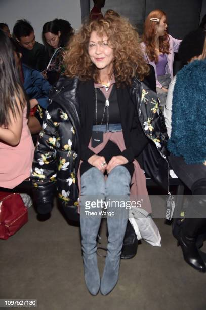 Brigitte Segura attends the Global Fashion Collective II front row during New York Fashion Week The Shows at Pier 59 Studios on February 10 2019 in...