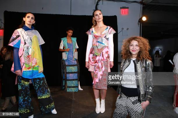 Brigitte Segura during the Epson's F/W 18 Digital Couture Panel and Presentation on February 6 2018 in New York City