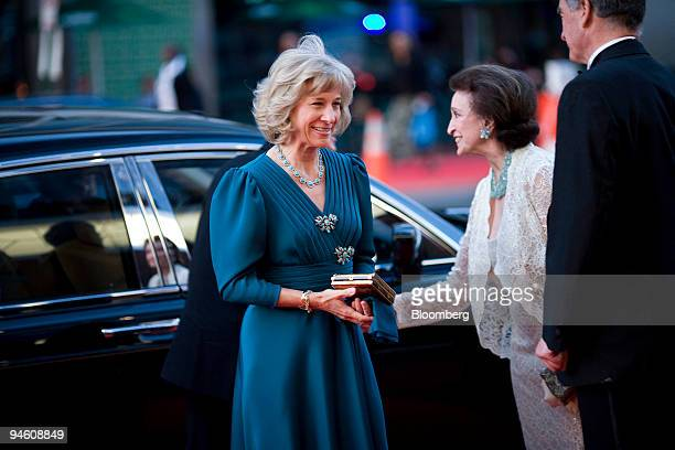 Brigitte the dutchess of Gloucester left arrives for the opening of the Harman Center for the Arts in Washington DC US on Monday Oct 1 2007 The...