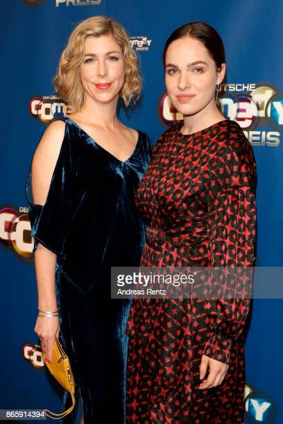 Brigitte Zeh and Verena Altenberger attend the 21st Annual German Comedy Awards at Studio in Koeln Muehlheim on October 24 2017 in Cologne Germany