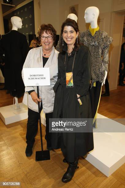 Brigitte Zypries and Dorothee Schuhmacher the Group Presentation during 'Der Berliner Salon' AW 18/19 at Kronprinzenpalais on January 16 2018 in...