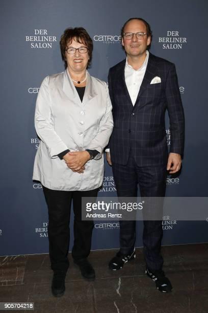 Brigitte Zypries and Dr Jürgen Varnhorn attend the Vogue Salon during 'Der Berliner Salon' AW 18/19 at Kronprinzenpalais on January 16 2018 in Berlin...