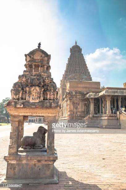 brihadeeswarar temple, thanjavur, india, the world heritage sites. - tamil nadu stock pictures, royalty-free photos & images