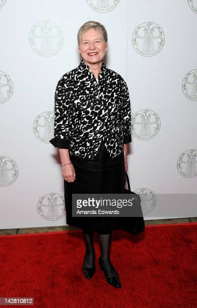 Briitish ConsulGeneral Dame Barbara Hay arrives at the Women's Guild of CedarsSinai Annual Spring Luncheon at the Beverly Hills Hotel on April 12...