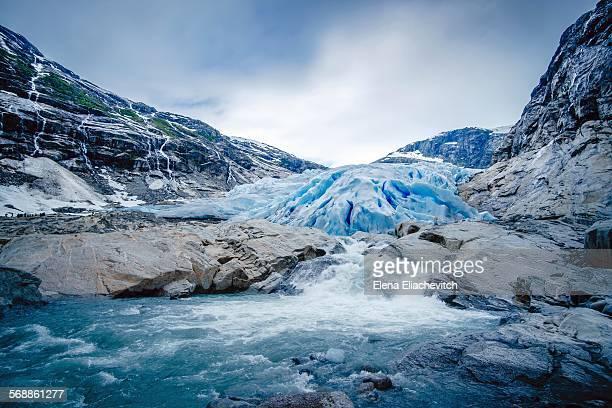 briksdal glacier, norway - glacier stock pictures, royalty-free photos & images
