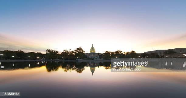 Briliant Sunrise over Capitol Building in the USA