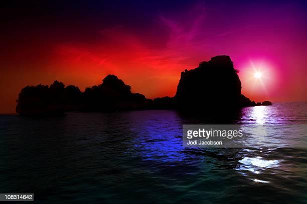 Brillant sunset Thailand