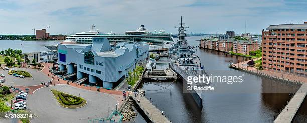 brilliance of the seas at half moone cruise, norfolk, virginia - norfolk virginia stock pictures, royalty-free photos & images