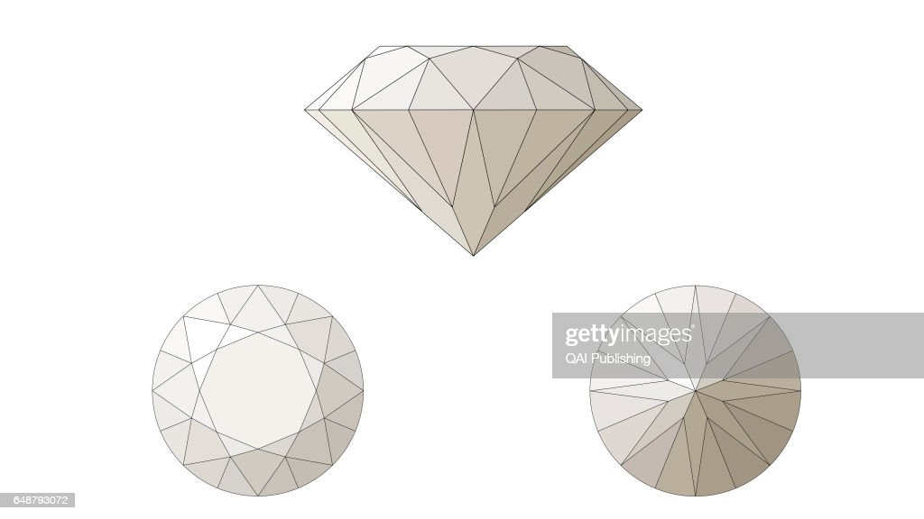 photo placed stock illustration diamond shiny background facet on d image white