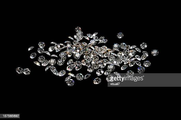brilliant gems, isolated on black