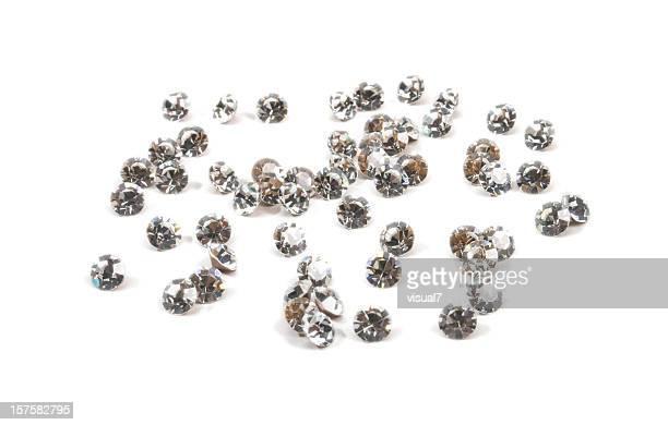 brilliant gems, isolated on white