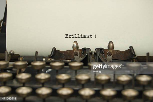 Brilliant on antique typewriter
