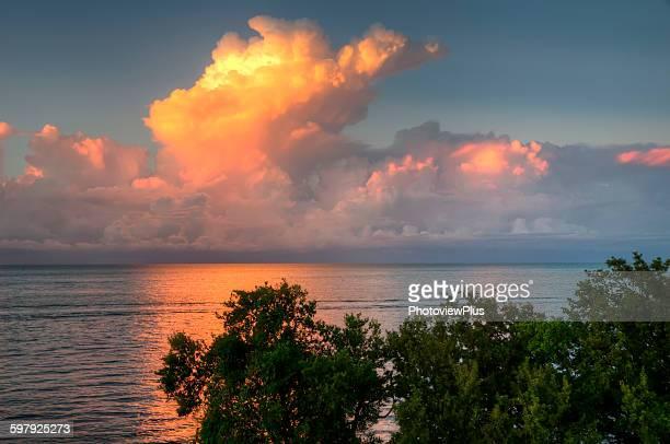 Brilliant sunset over the Florida Keys