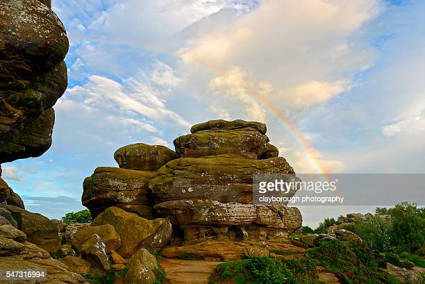 brimham rocks - north yorkshire stock pictures, royalty-free photos & images