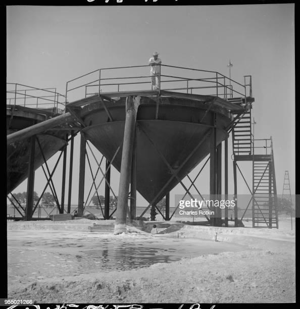 Brine wells at a chemical plant Lake Charles Louisiana USA