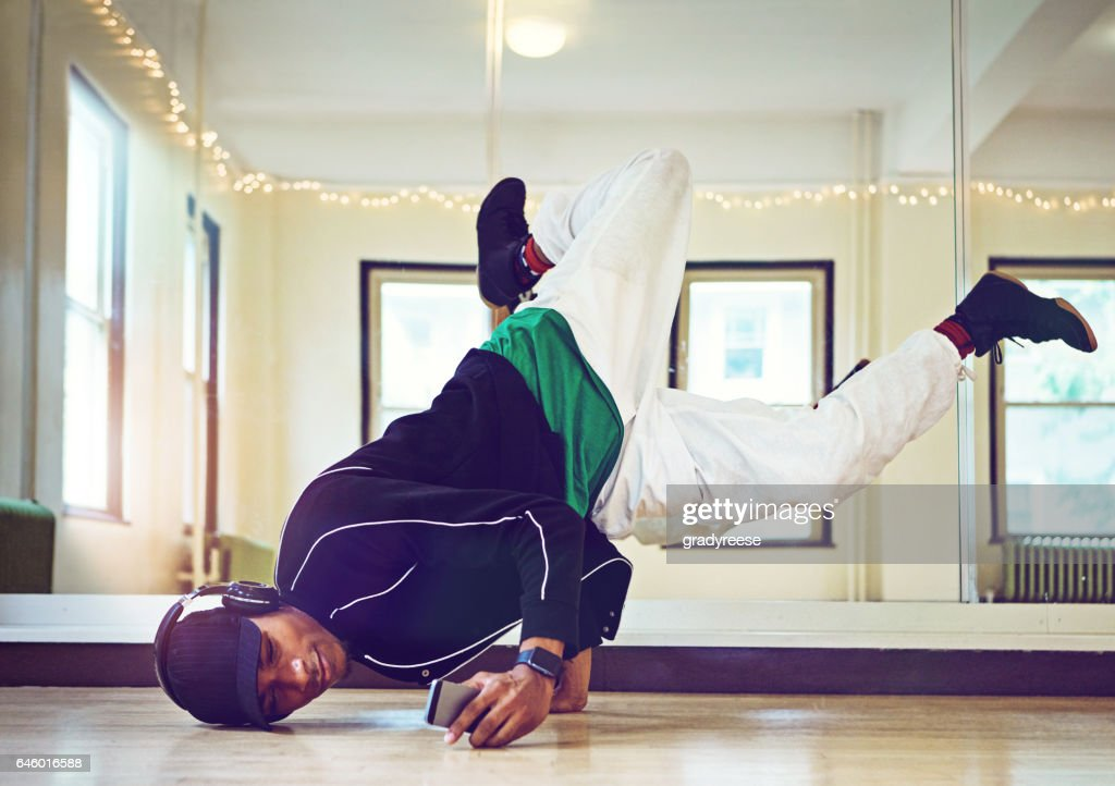 Bring the beat and he'll bring the moves : Stock Photo