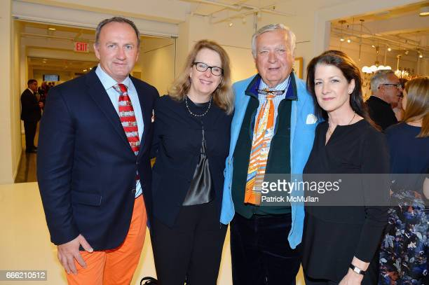 Brinsely Matthews Jane Preech Carleton Varney and Deirdre Brennan attend Carlton Varney Book Party at 1stdibs Gallery on April 6 2017 in New York City