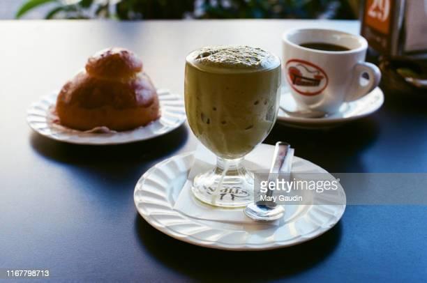 brioche, granita and espresso - sorbet stock pictures, royalty-free photos & images