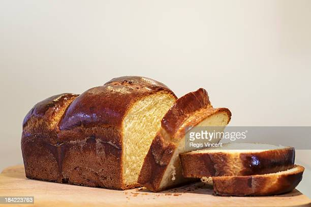 a brioche loaf - brioche stock pictures, royalty-free photos & images
