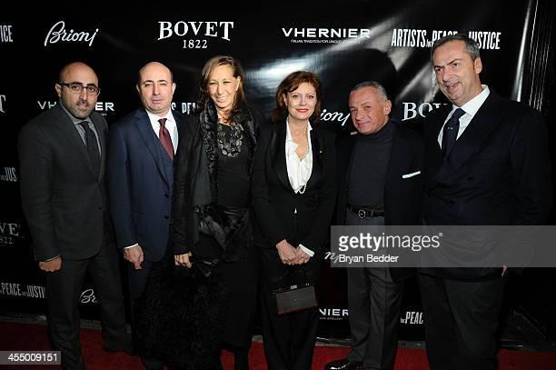 Brioni CEO Todd Barrato Brioni Worldwide CEO Francesco Pesci Designer Donna Karan Actress Susan Sarandon Owner of Bovet Fleurier Pascal Raffy and...
