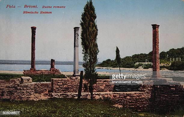 Brioni in Istria / Croatia Roman ruins Coloured picture postcard About 1910 Photograph