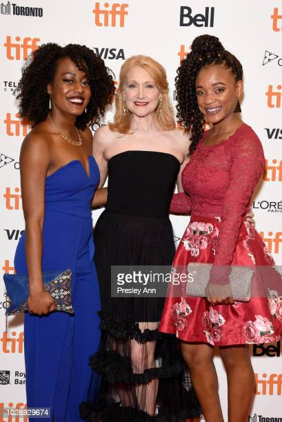 Brionne Collins Patricia Clarkson and Devyn Tyler attend the Out Of Blue premiere during 2018 Toronto International Film Festival at Winter Garden...