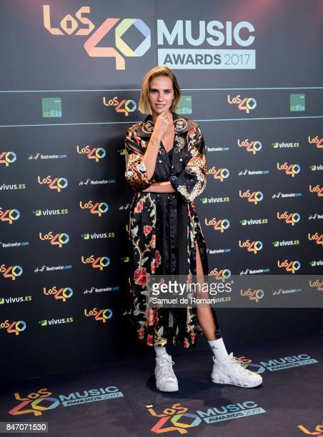 Brisa Fenoy attends 40 Principales Awards candidates dinner 2017 on September 14 2017 in Madrid Spain