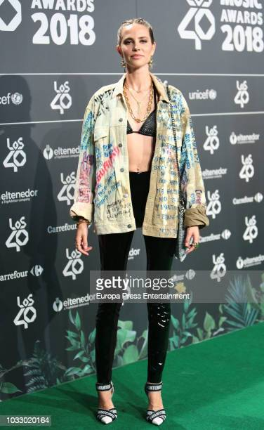 Brisa Fenoy attends the 40 Principales Awards nominated dinner at Florida Retiro on September 13 2018 in Madrid Spain