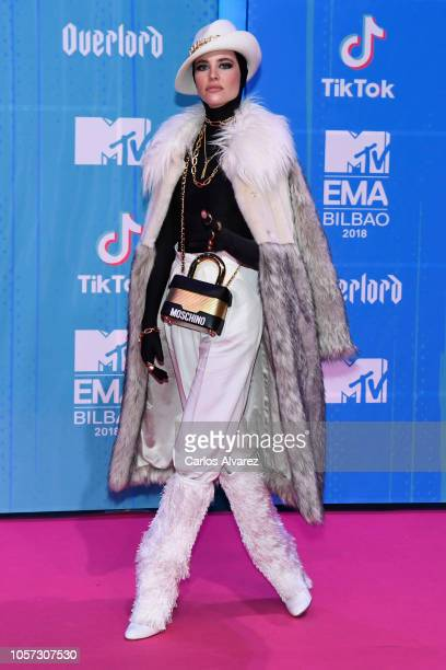 Brisa Fenoy attends the MTV EMAs 2018 at Bilbao Exhibition Centre on November 4 2018 in Bilbao Spain