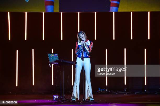 Brisa Fenoy performs in concert during the Opening Day Gala Malaga Film Festival 2018 on April 13 2018 in Malaga Spain
