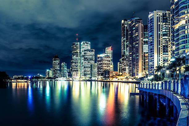 Brisbane At Night, Australia Wall Art