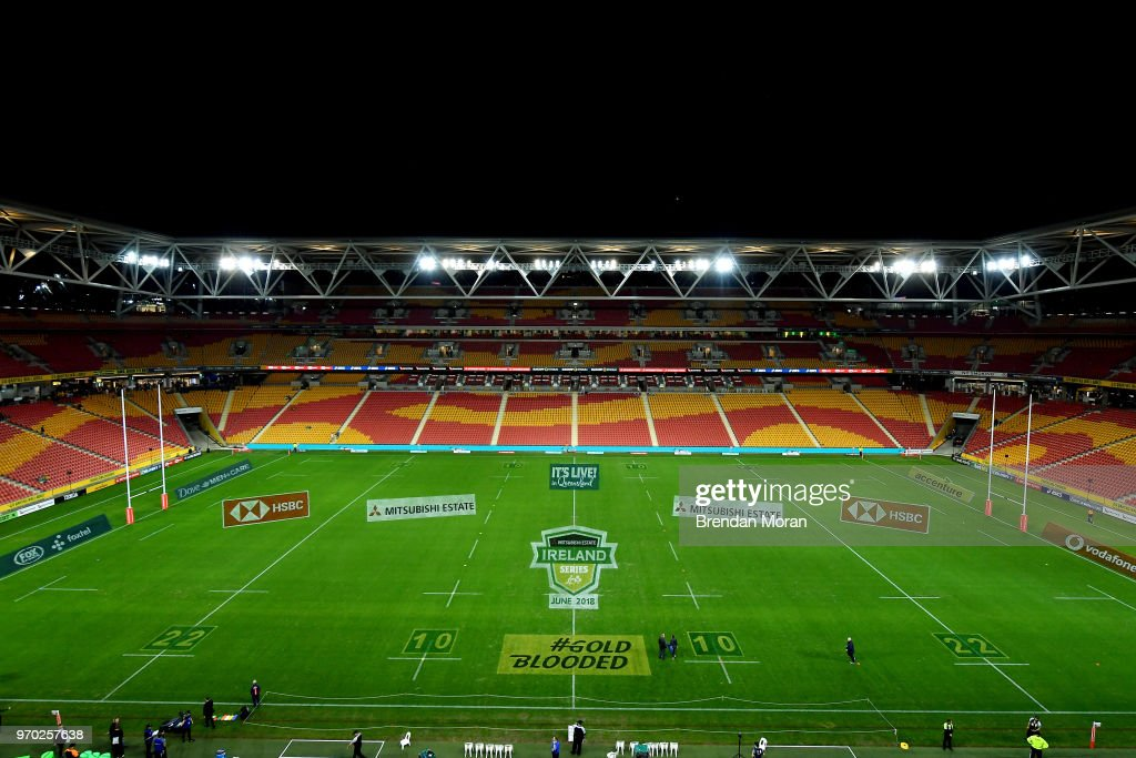 Brisbane , Australia - 9 June 2018; A general view of Suncorp Stadium prior to the 2018 Mitsubishi Estate Ireland Series 1st Test match between Australia and Ireland at Suncorp Stadium, in Brisbane, Australia.